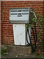 SO8544 : Old petrol pump by Philip Halling