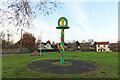 TM1383 : Burston village sign by Adrian S Pye