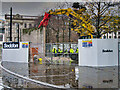 SJ8498 : Demolition of the Piccadilly Wall by David Dixon