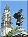 ST1876 : Cardiff City Hall - Clock Tower by Colin Smith