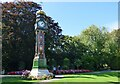 SY6890 : Clock Tower in Borough Gardens by Sandy Gerrard