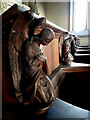 ST8879 : Carved angels, Church of Saint Margaret of Antioch, Leigh Delamere by Vieve Forward
