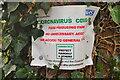 ST8379 : Covid 19 Notice, Littleton Drew, Wiltshire 2020 by Ray Bird