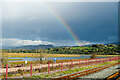 SH5738 : Rainbow at Porthmadog by Jeff Buck
