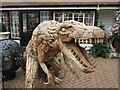 """TQ0847 : Gomshall - """"Tree-Rex"""" by Colin Smith"""