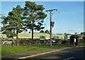 SK6680 : Bus stop outside HMP Ranby by Neil Theasby