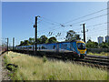 SE5850 : TransPennine train passing Holgate sidings by Stephen Craven
