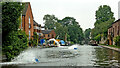 SO8171 : Staffordshire and Worcestershire Canal at Stourport by Roger  Kidd