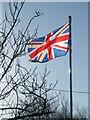 ST3456 : The Union Jack in Bleadon by Neil Owen