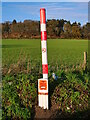TG2928 : New gas line marker by David Pashley