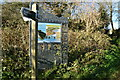 TR2437 : Information board and footpath sign, The Warren by N Chadwick