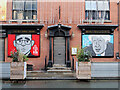 SJ8498 : Political Cartoons at the Bay Horse Tavern by David Dixon