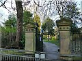 SE2233 : Pudsey Park: Radcliffe Lane entrance by Stephen Craven