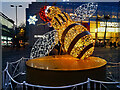 SJ8398 : Christmas Bee in Exchange Square by David Dixon