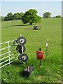 TQ0351 : Clandon Park - Electric Fence Gear by Colin Smith
