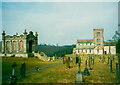 NY5124 : The Lowther mausoleum and St Michael's church by Humphrey Bolton