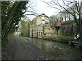 SE0324 : Rochdale Canal at Denholme Mill, Luddendenfoot by Christine Johnstone