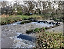 SP0982 : Weir on the River Cole by Mat Fascione
