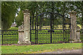 NT9339 : Gates to Etal Manor by Ian Capper