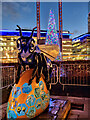 SJ8097 : Blue-Beeter (Bee in the City) by David Dixon