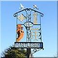 TM2547 : Martlesham village sign by Adrian S Pye