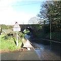 SX9493 : Vaughan Road railway bridge, Whipton, Exeter flooded by David Smith