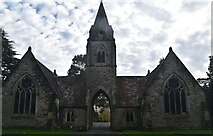 TQ5937 : Mortuary chapels, Kent & Sussex Cemetery by N Chadwick