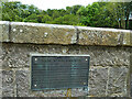 NJ9409 : Plaque on the Brig O'Balgownie by Stephen Craven
