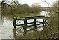 SK6240 : Abandoned jetty, Colwick Industrial Estate by Alan Murray-Rust