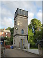 SO8404 : Water tower near Lodgemore Mill, Stroud by Chris Allen