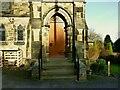 SE2443 : Bramhope Methodist Church - entrance by Stephen Craven