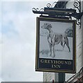 SK5845 : The sign of the Greyhound Inn by David Lally