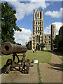 TL5380 : Ely - Cannon on Palace Green by Colin Smith