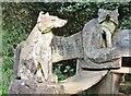 SU9941 : Winkworth Arboretum - Fox Bench by Colin Smith