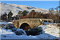 NC9021 : Arch Bridge in the Snow at Kildonan, Sutherland by Andrew Tryon