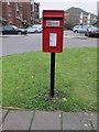 TQ2081 : Pole mounted post box, Westcott Estate by David Hawgood