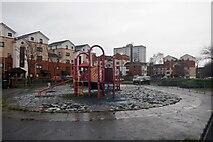 NT3071 : Playground, Niddrie House Drive by Richard Webb