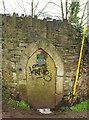 ST5773 : Door in wall, Brandon Hill by Derek Harper