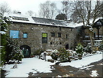 NS5574 : Gavin's Mill in the snow by Richard Sutcliffe