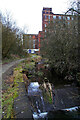 SD9505 : River Medlock and Majestic Mill, Waterhead by Chris Allen