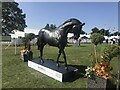 TF0406 : Bronze horse sculpture at Burghley Horse Trials by Jonathan Hutchins