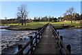 SE0754 : Footbridge across the River Wharfe, Bolton Abbey by Chris Heaton