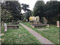 SP4416 : Churchyard of St Mary Magdalene, Woodstock by Jonathan Hutchins