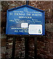SO5012 : Information board outside a Monmouth church by Jaggery