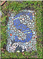 NS5766 : Mosaic in Kelvingrove Square community garden by Thomas Nugent