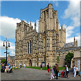 ST5545 : Wells Cathedral by habiloid