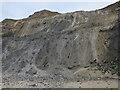 TG2639 : Wet cliffs near Sidestrand by Hugh Venables
