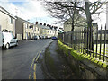 H4572 : Railings along Campsie Crescent, Omagh by Kenneth  Allen
