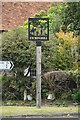 TR1639 : Etchinghill Village Sign by N Chadwick