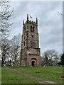 SJ7049 : St Chad's church tower, Wybunbury by Jonathan Hutchins